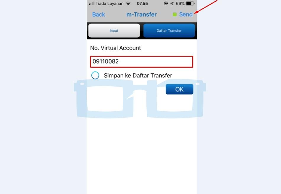 Isi Daftar Nomor Virtual Account untuk Top Up Link Aja