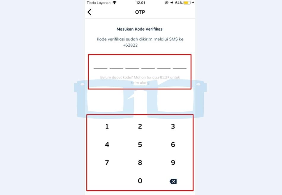 Masukkan Kode Verifikasi OTP Link Aja New