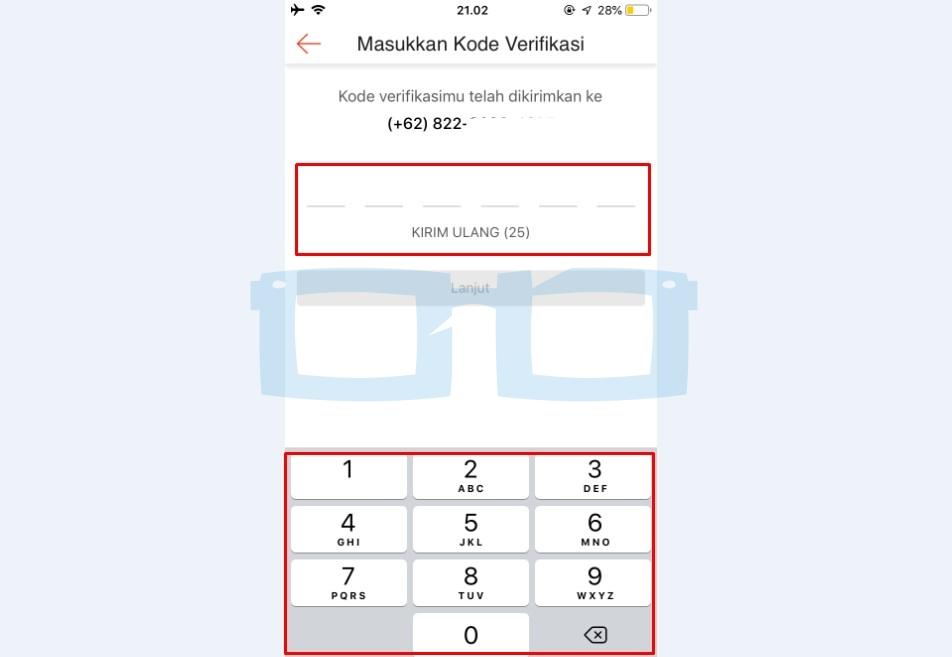 Masukkan Kode Verifikasi OTP untuk Tambah Rekening Bank Shopeepay