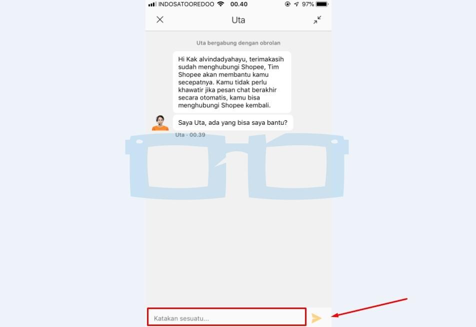 Mulai Chat dengan CS Shopee