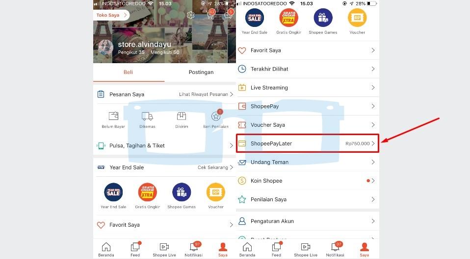 Pilih Menu Shopee Paylater untuk Menaikkan Limit Kredit