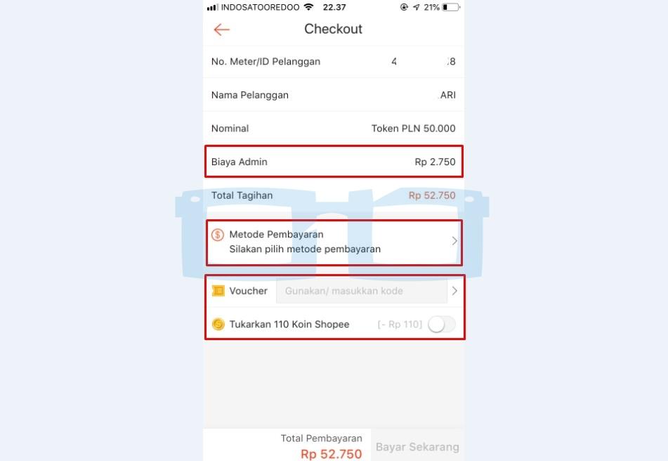 Pilih Metode Pembayaran Beli Token Listrik di Shopee