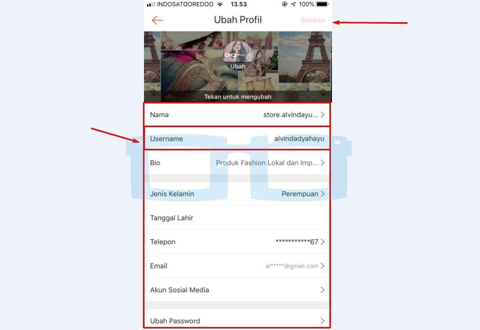 Ubah Username Shopee dan Nama Akun Shopee