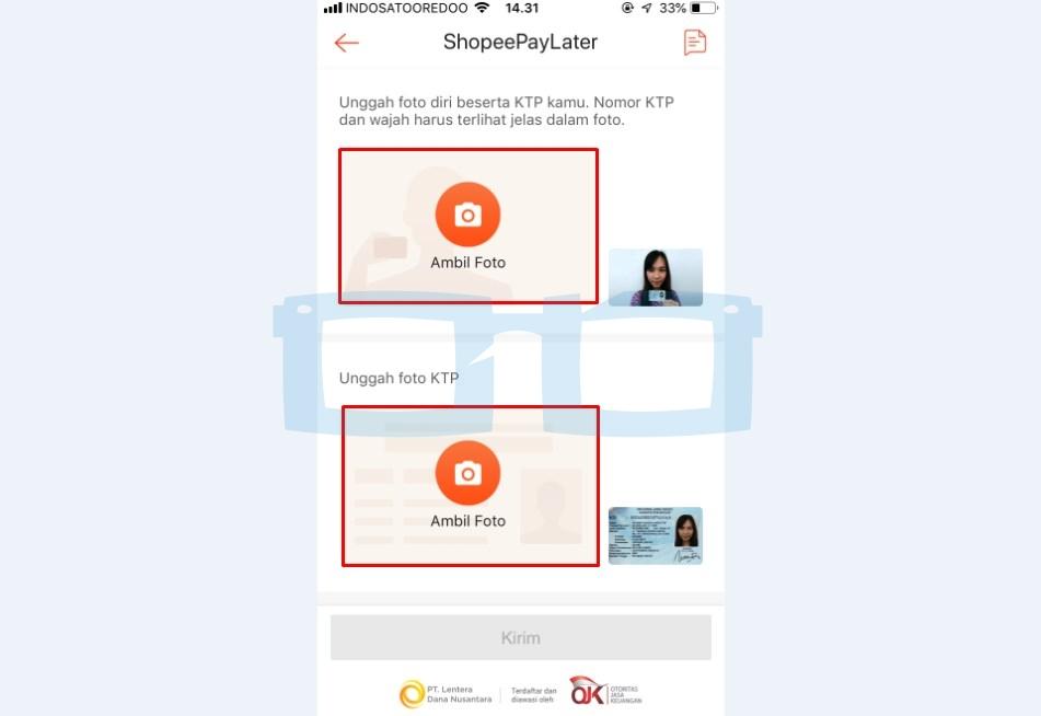 Unggah Foto KTP dan Selfie dengan KTP untuk Aktifkan Shopeepay Later 3