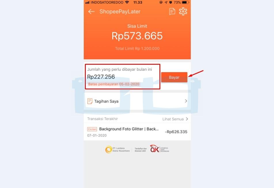 Bayar Shopee Paylater Lewat Transfer Bank