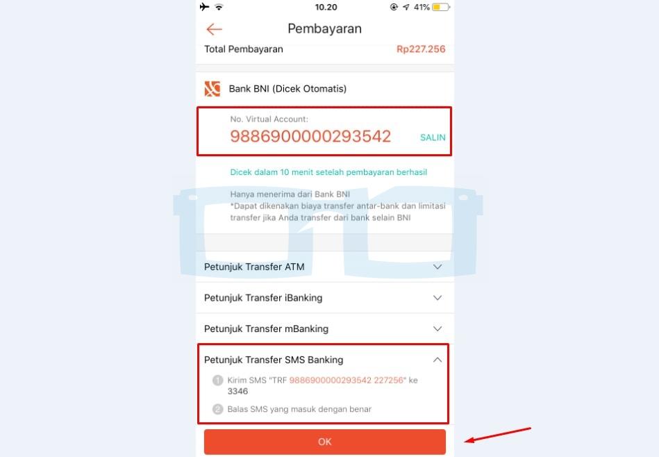 Cara Bayar Shopee Paylater Lewat SMS Banking BNI