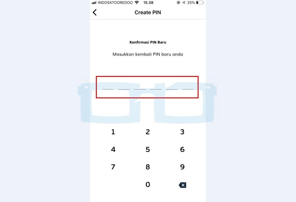Konfirmasi PIN Baru LinkAja atau Reset PIN