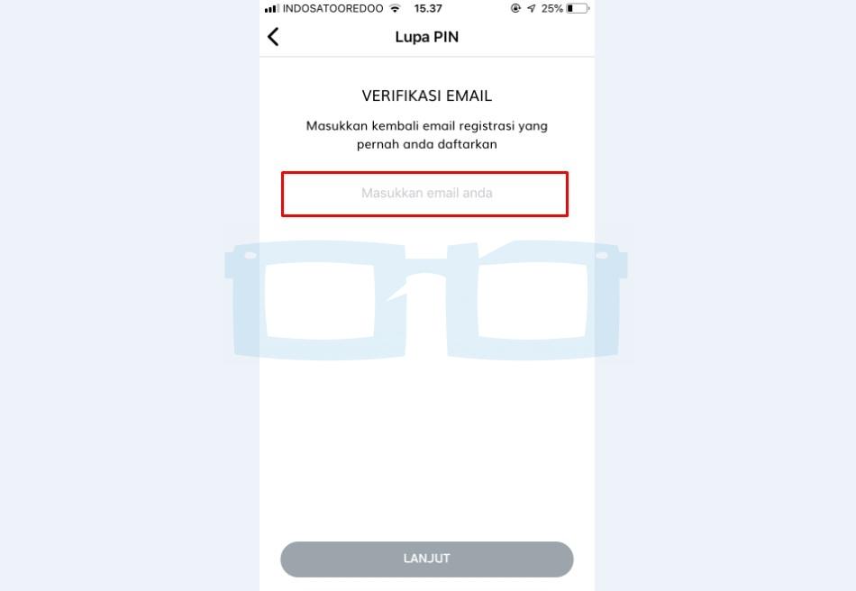 Masukkan Email untuk Verifikasi Reset PIN LinkAja