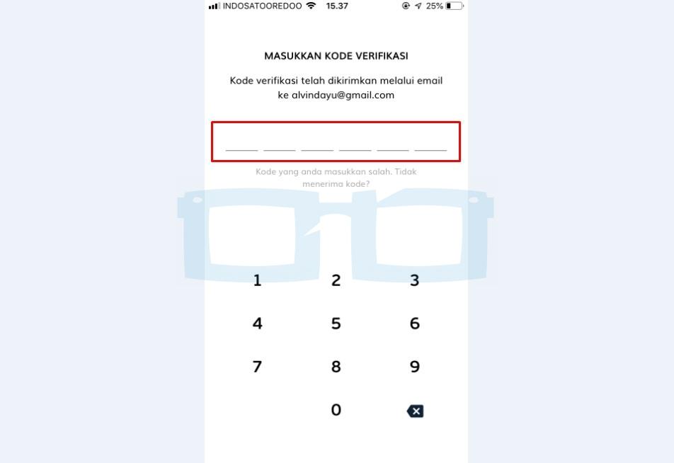 Masukkan Kode Verifikasi OTP LinkAja di Email