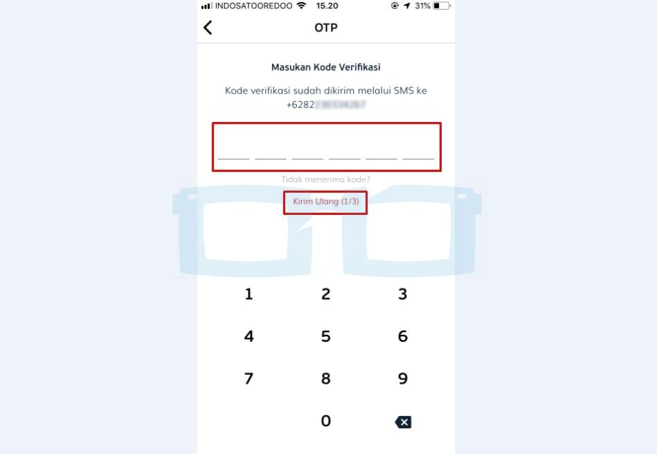 Masukkan Kode Verifikasi OTP LinkAja