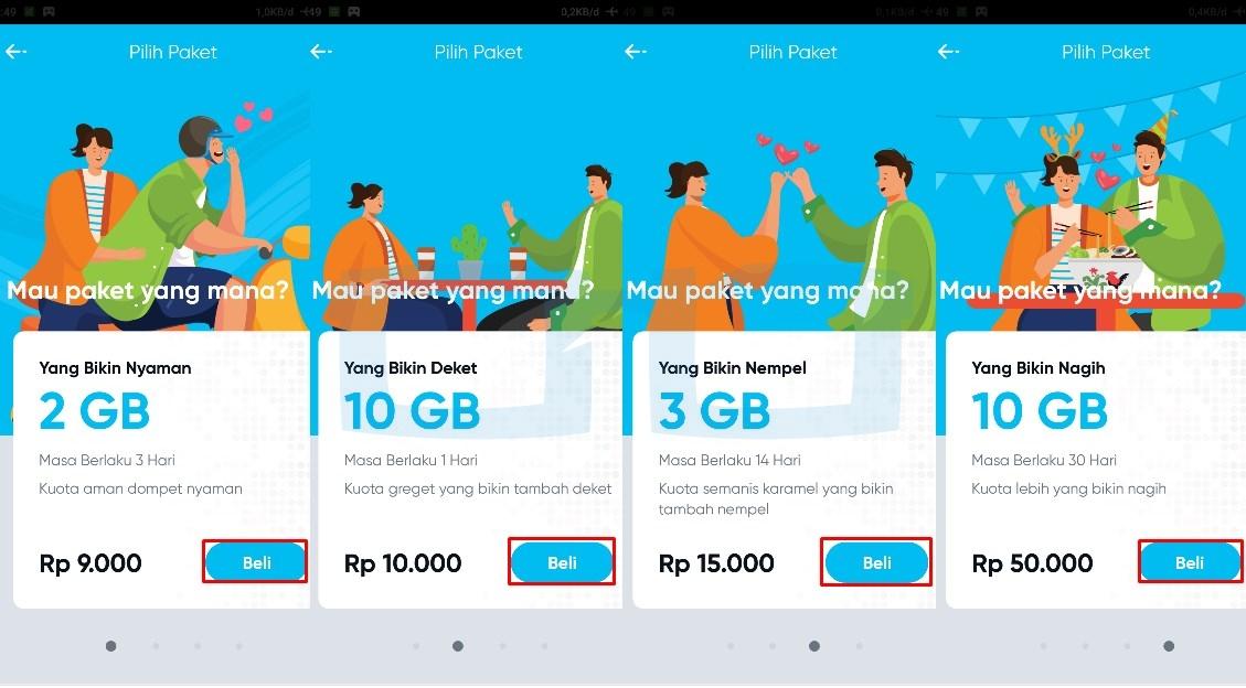 Pilih Paket Internet by U
