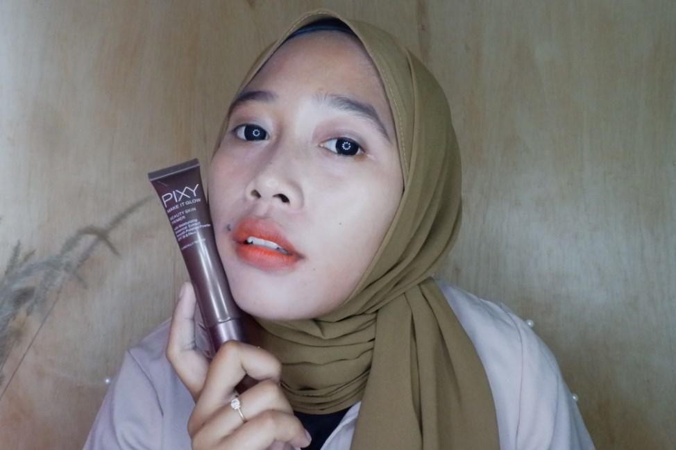 Honest Review Primer Pixy Make It Glow di Kulit Sawo Matang Kombinasi Normal to Oily