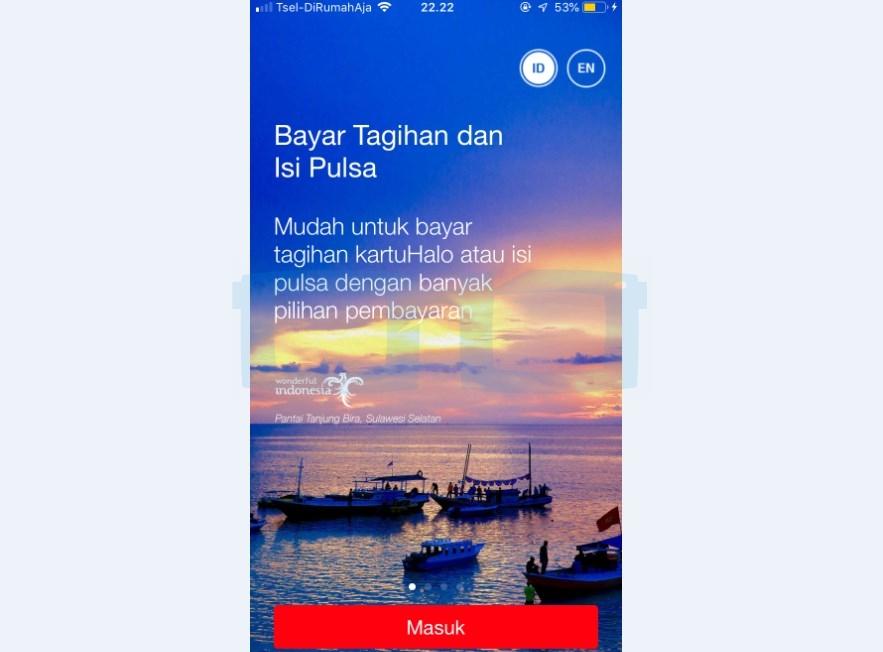 Login Aplikasi MyTelkomsel